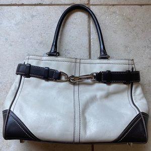COACH | Hampton Cream Leather Satchel F11199